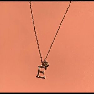 Necklaces with letter E